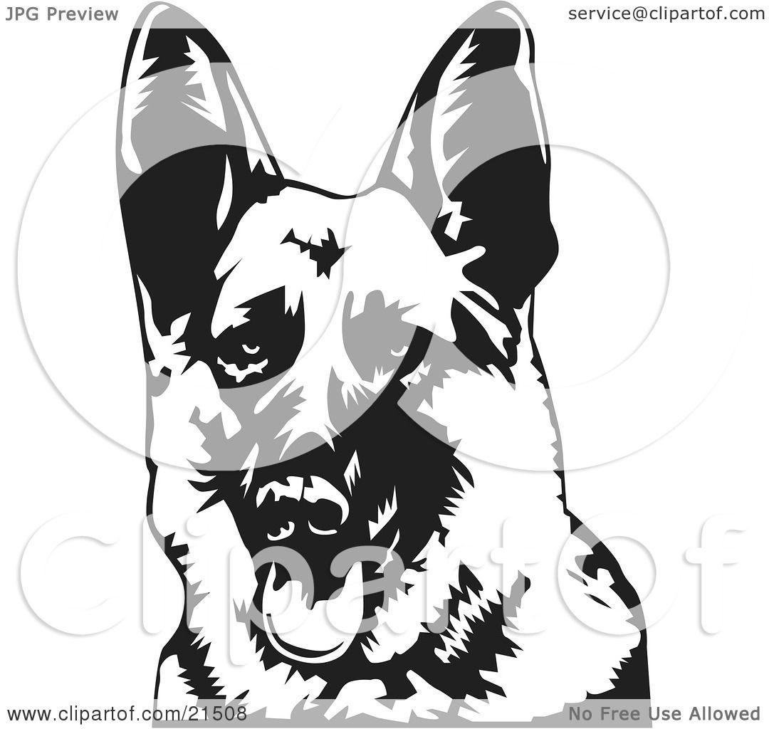 Clipart Illustration of a Friendly German Shepherd Dog Panting ...
