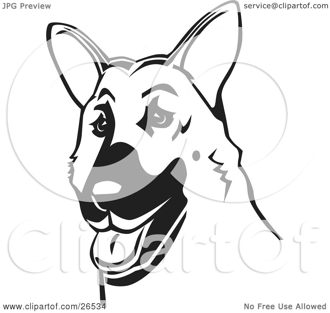 Clipart Illustration Of A Friendly German Shepherd Dog