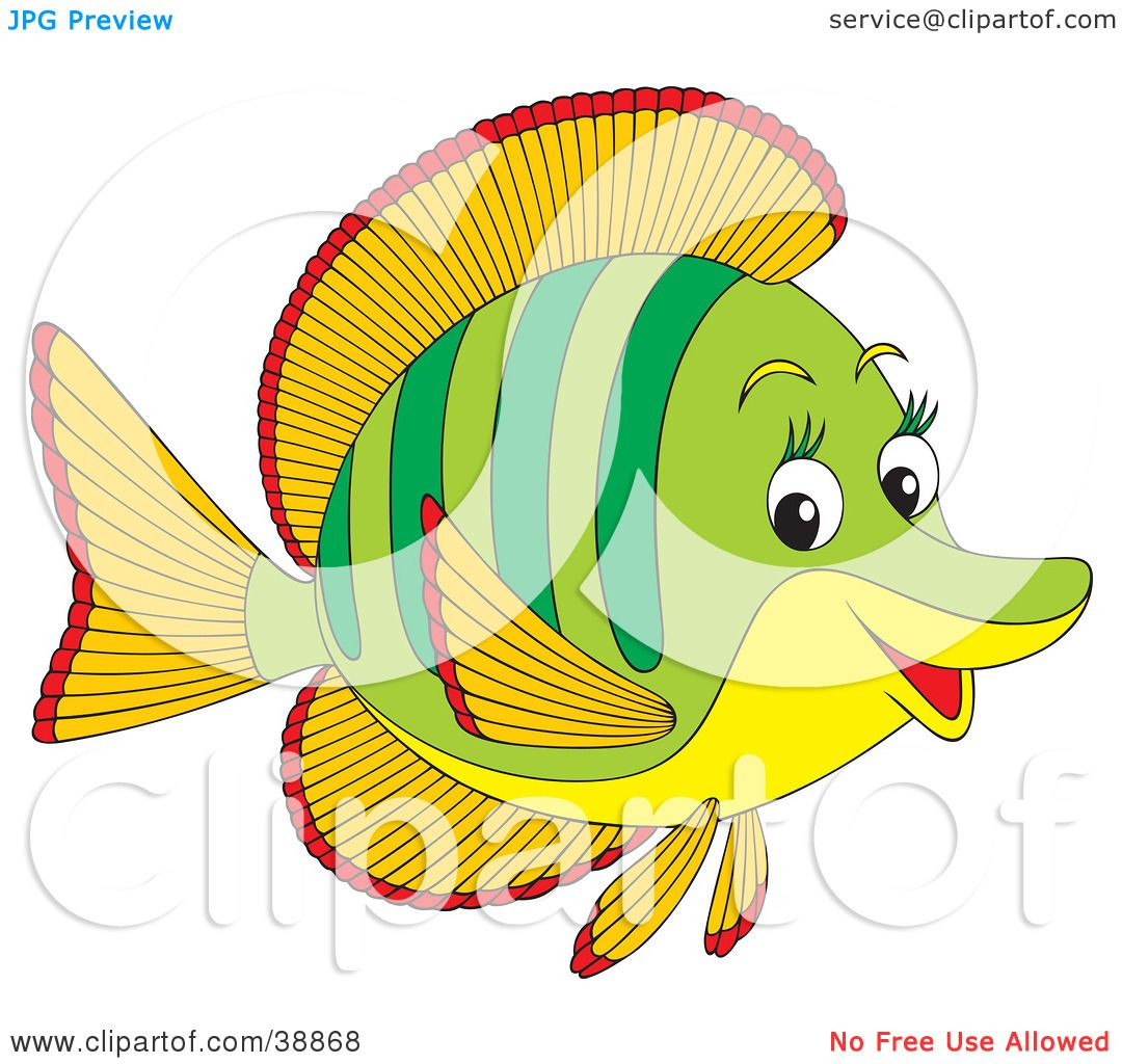 Clipart Illustration of a Friendly Green, Orange, Red And Yellow ...