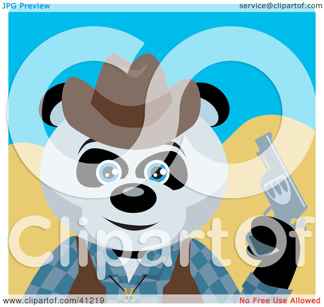 clipart panda cowboy - photo #27