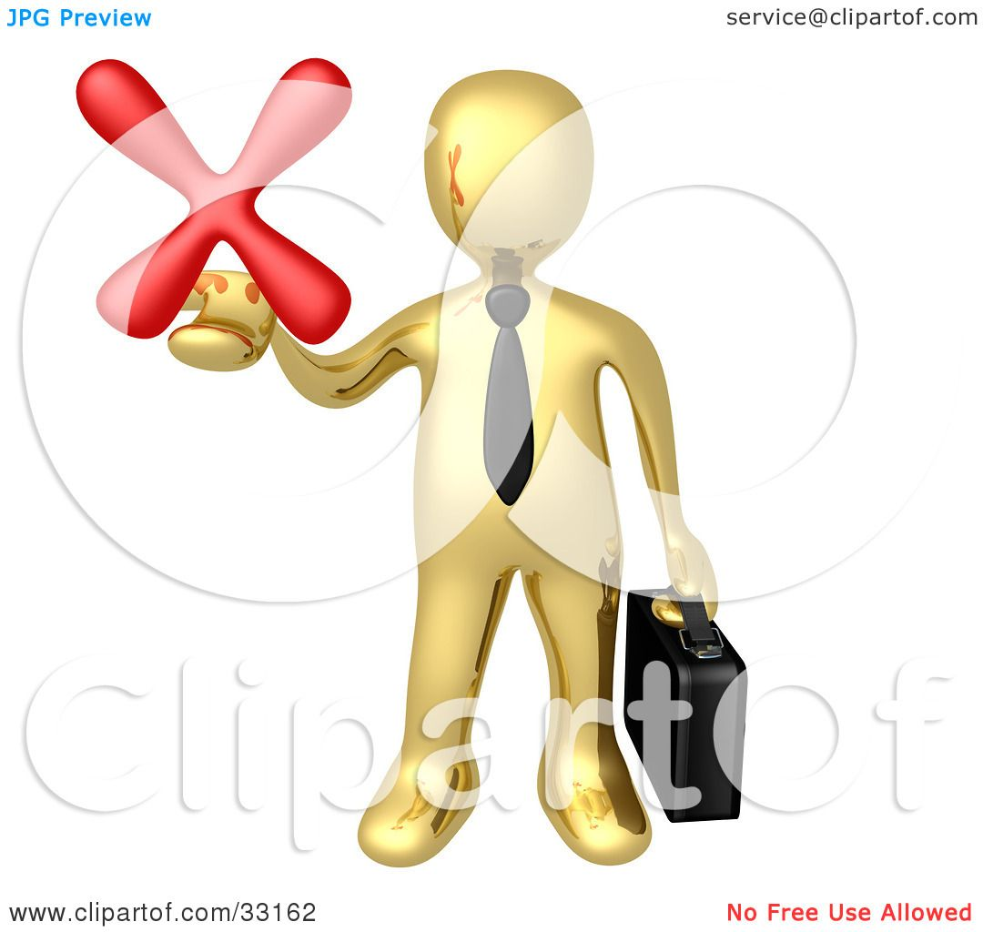 Heart Failure Clipart Clipart illustration of a gold