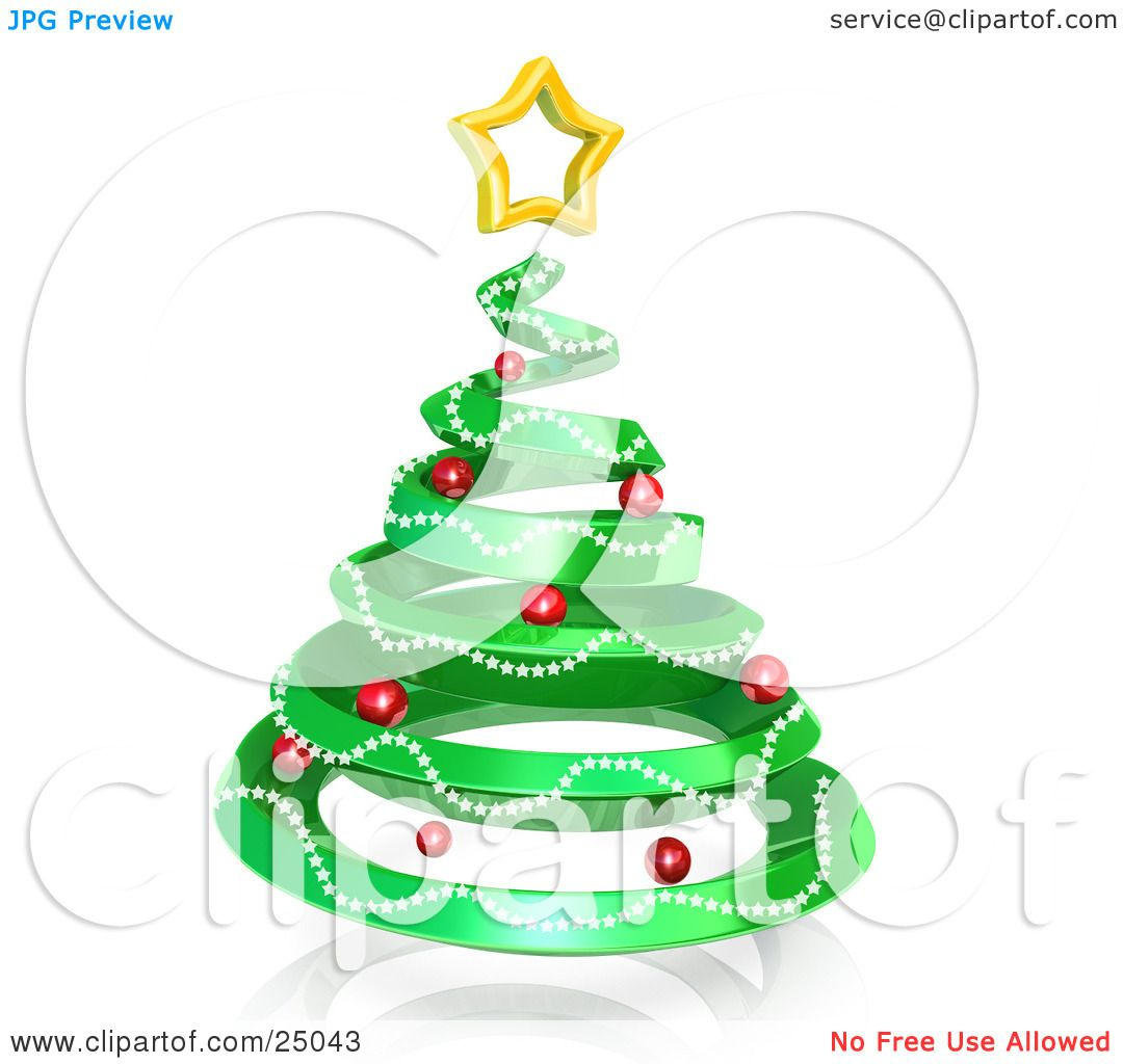 Spiral Christmas Tree. Shiny Spiral Christmas Tree Background With ...