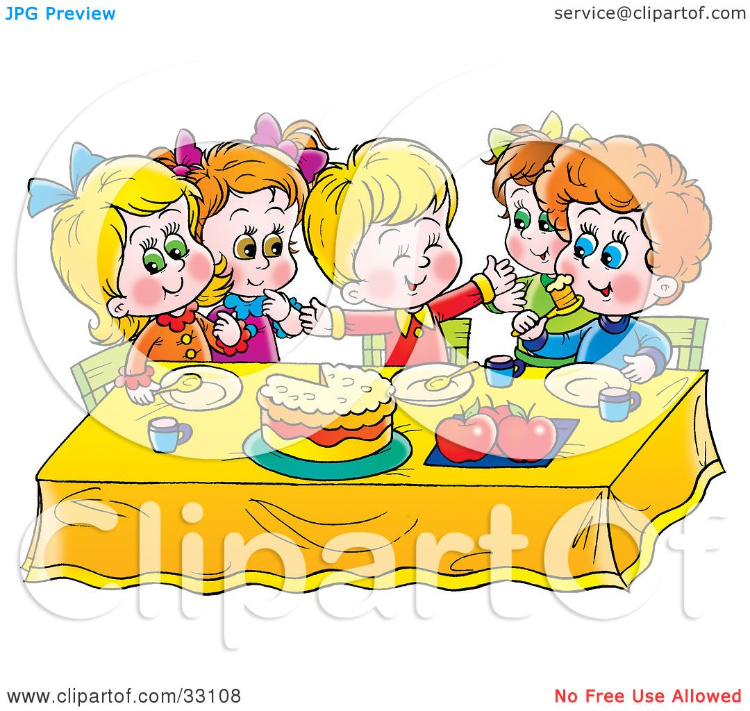 Clipart Children Studying