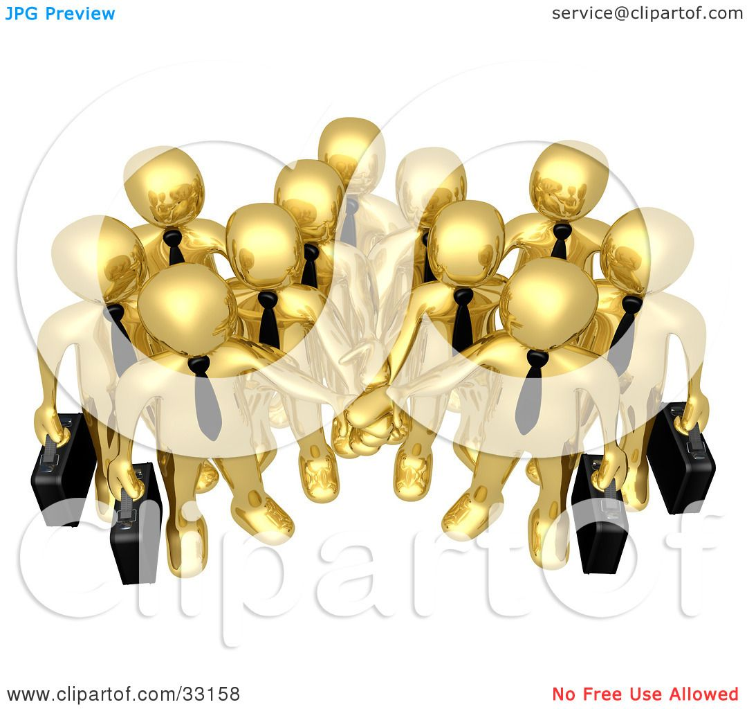 Group Of Business People Clipart