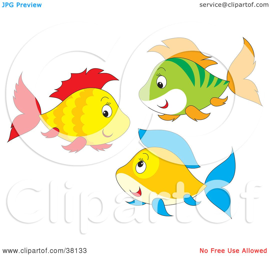 Clipart Illustration of a Group of Yellow, Red, Green, Orange And ...