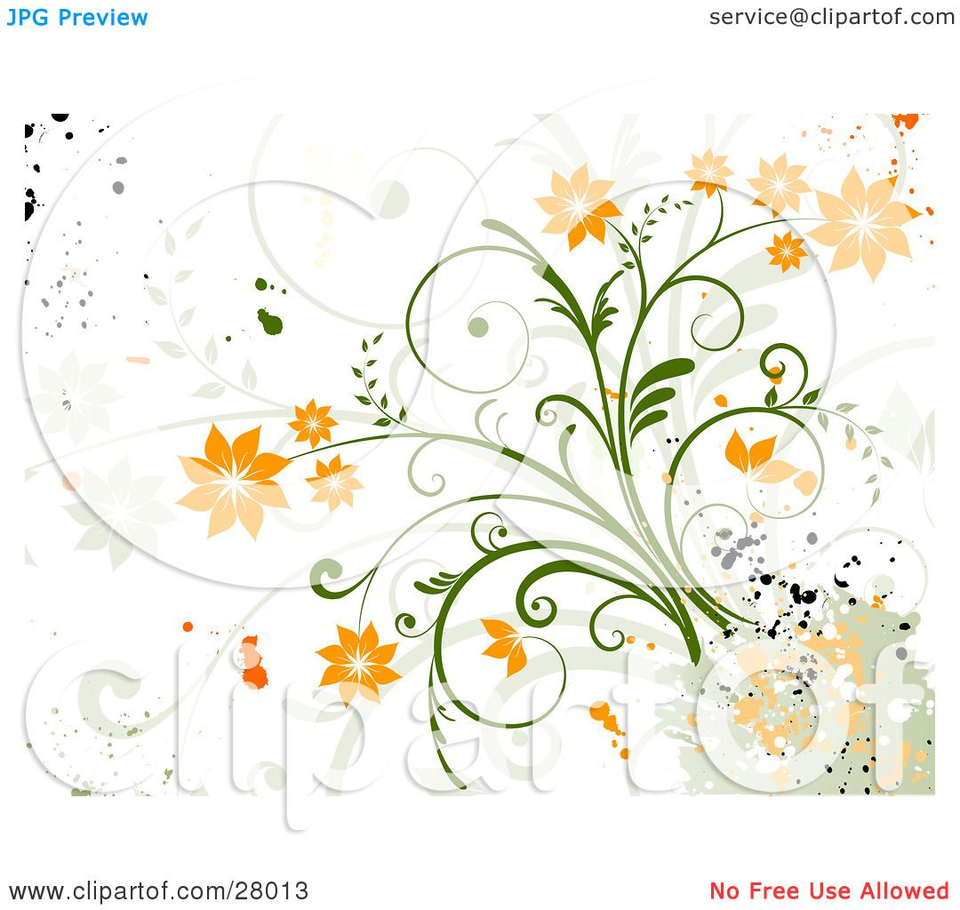 Clipart Illustration Of A Grunge Background Of Orange