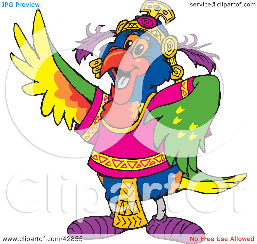 Clipart Illustration of a Gypsy