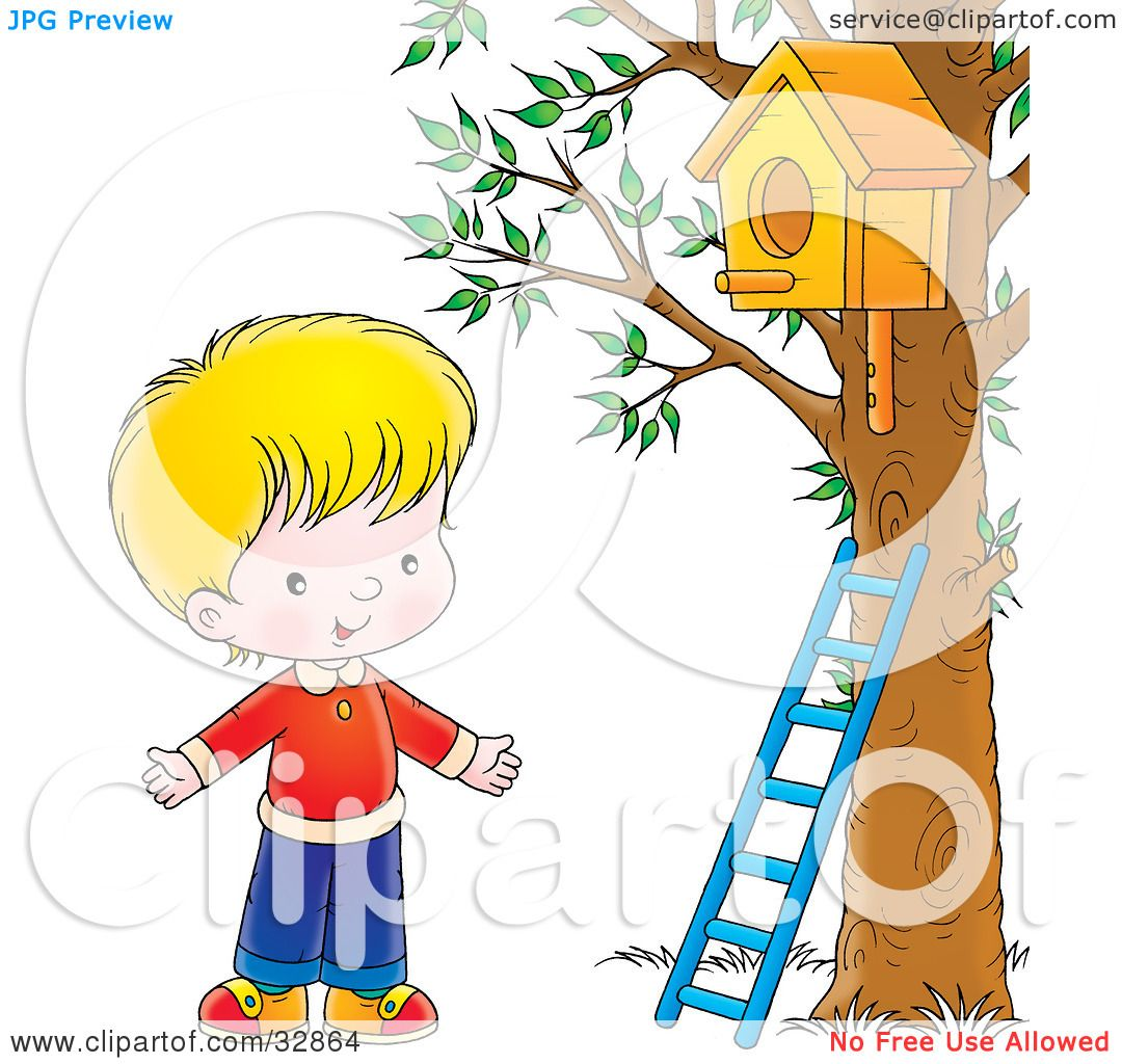 Cool Clipart Illustration Of A Happy Blond Boy Standing By A Download Free Architecture Designs Scobabritishbridgeorg