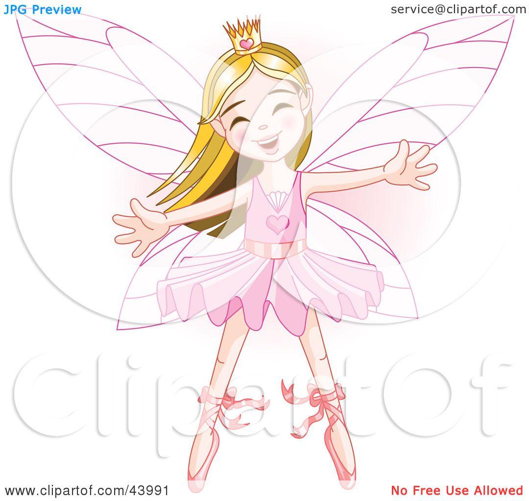 Clipart Illustration Of A Happy Caucasian Ballerina Fairy