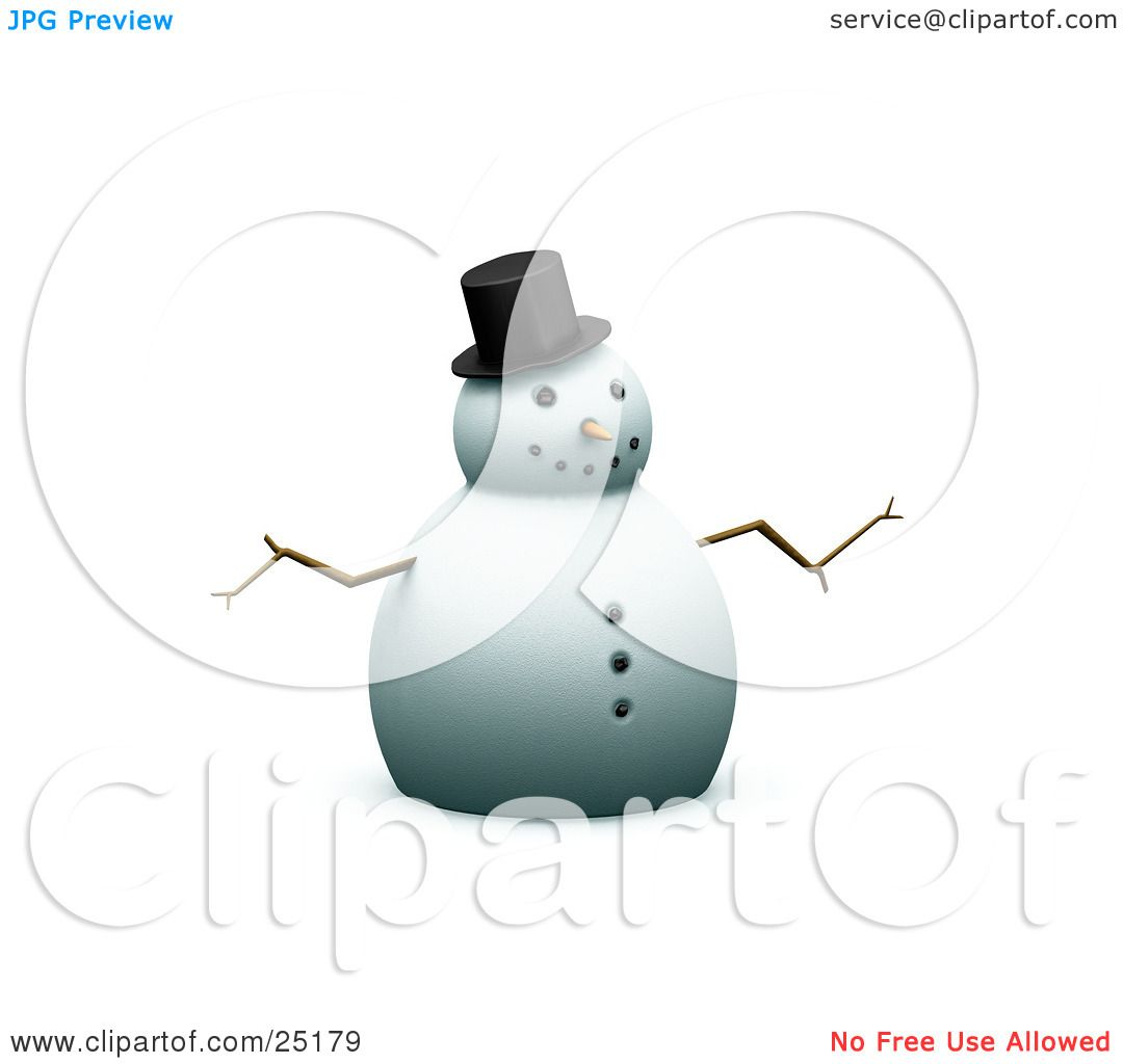 Carrot Nose Clipart Snowman with a carrot nose