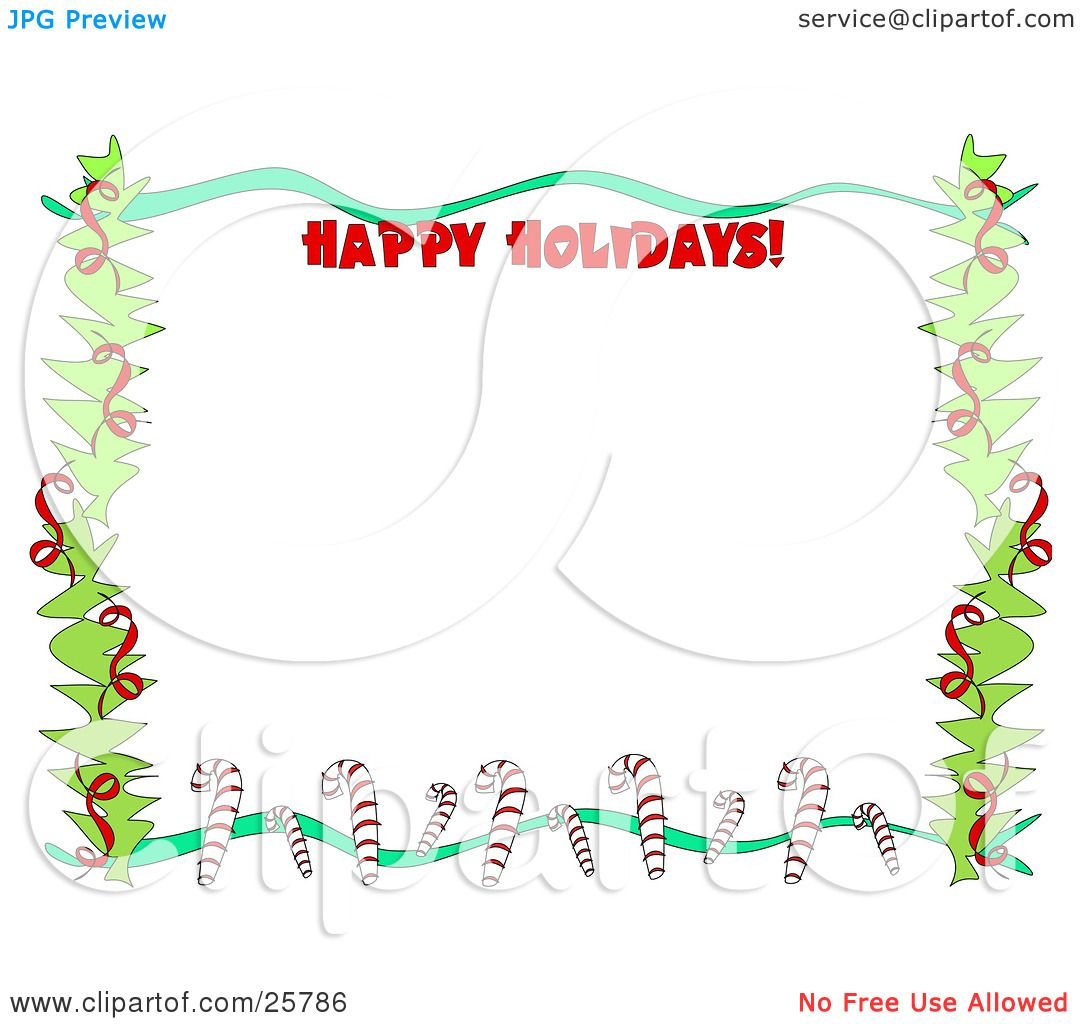 Similiar Happy Holidays Border Clip Art Keywords