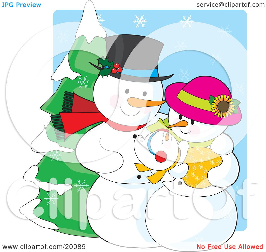 Clip Art Snowgirl Clipart Illustration of a