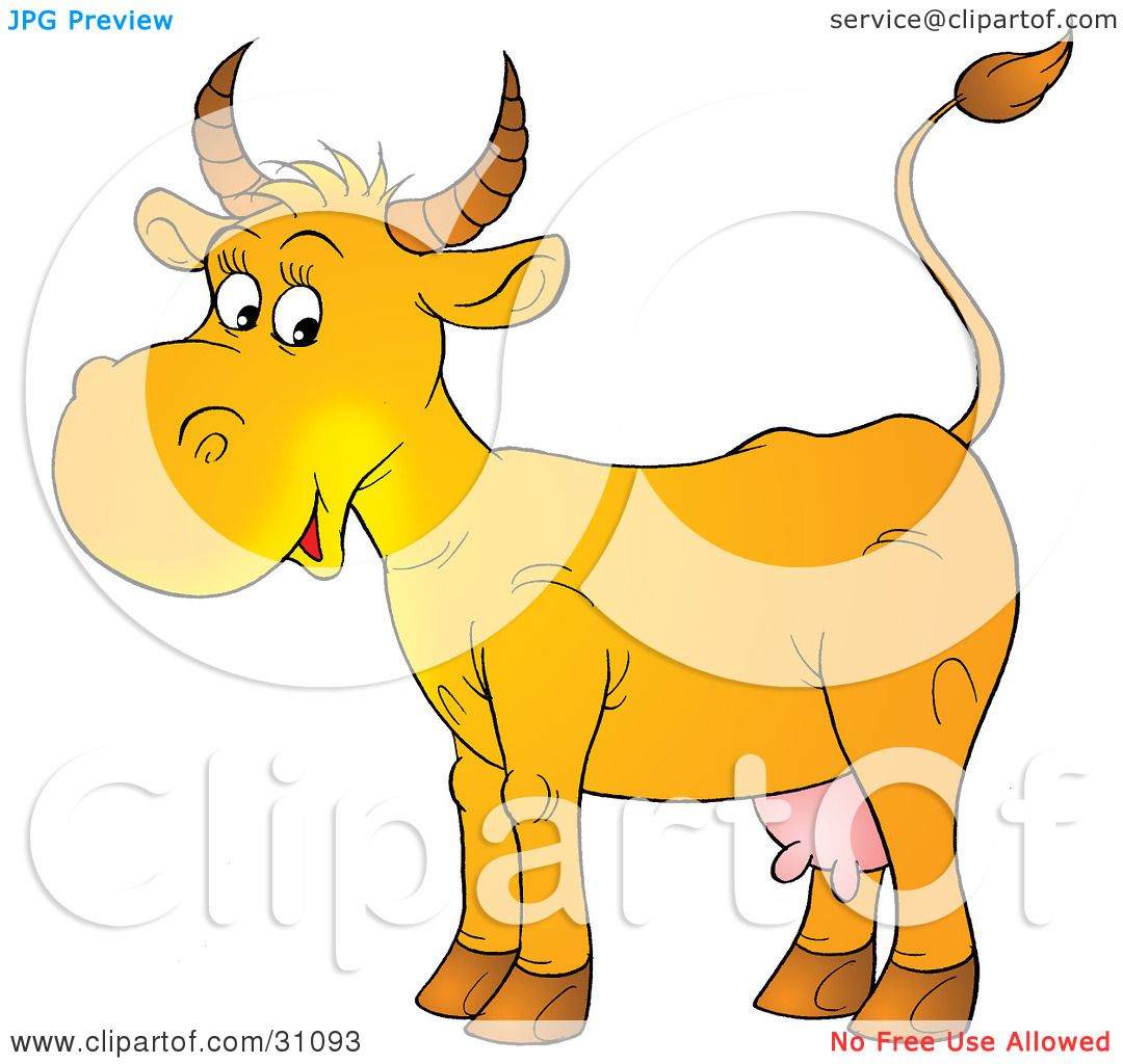 Cow Udder Clipart Cow With Pink Udders by