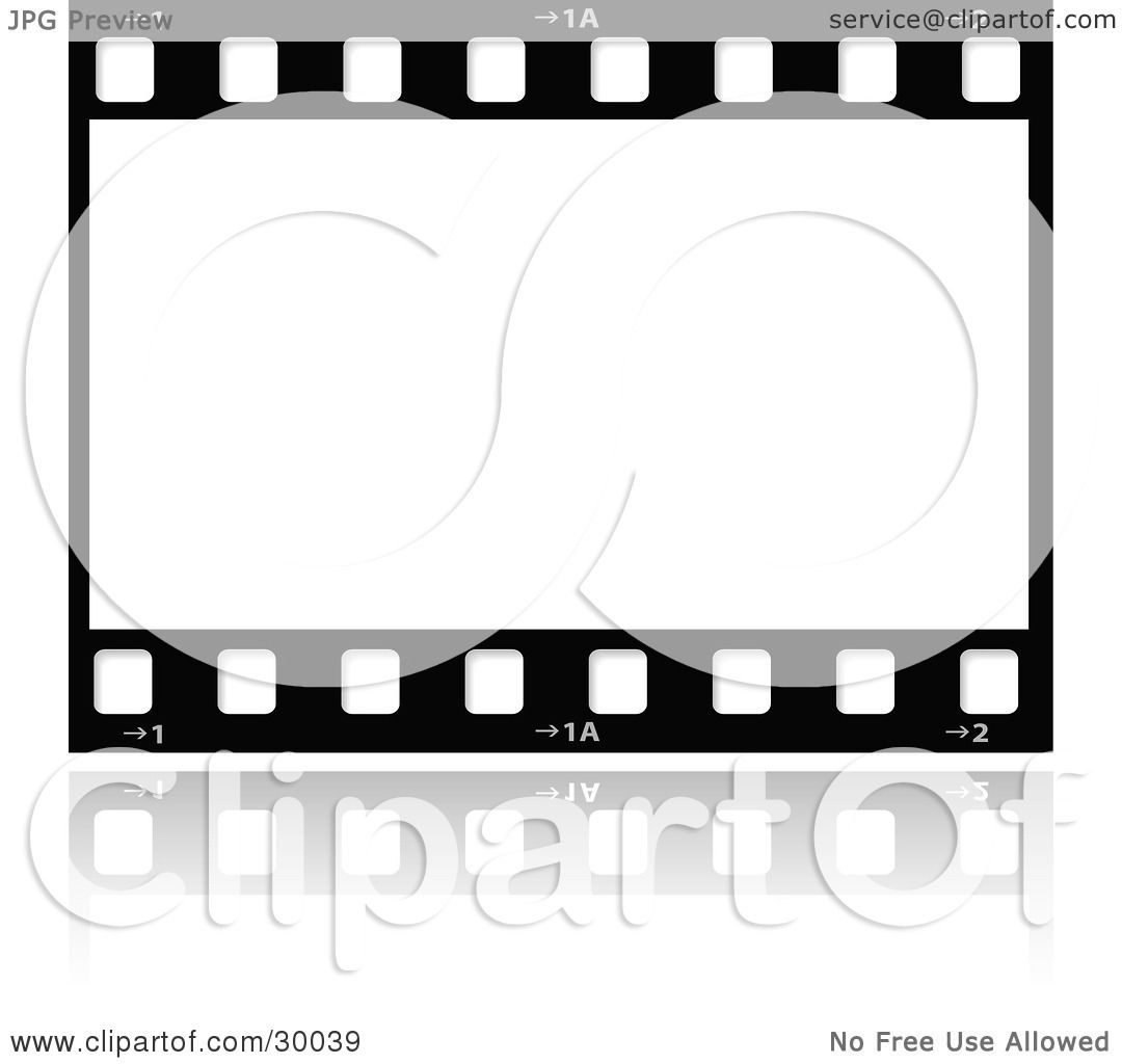 Clipart Illustration of a Large Film Strip With A Blank Frame by ...