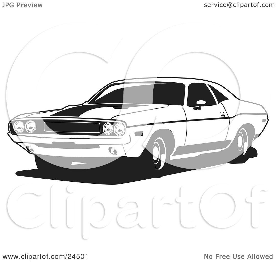 El Dorado Kleurplaat Clipart Illustration Of A Light Blue 1970 Dodge Challenger