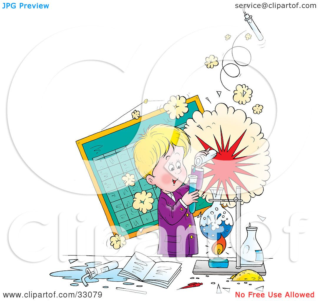 Clipart Illustration Of A Little Boy Creating An Explosion