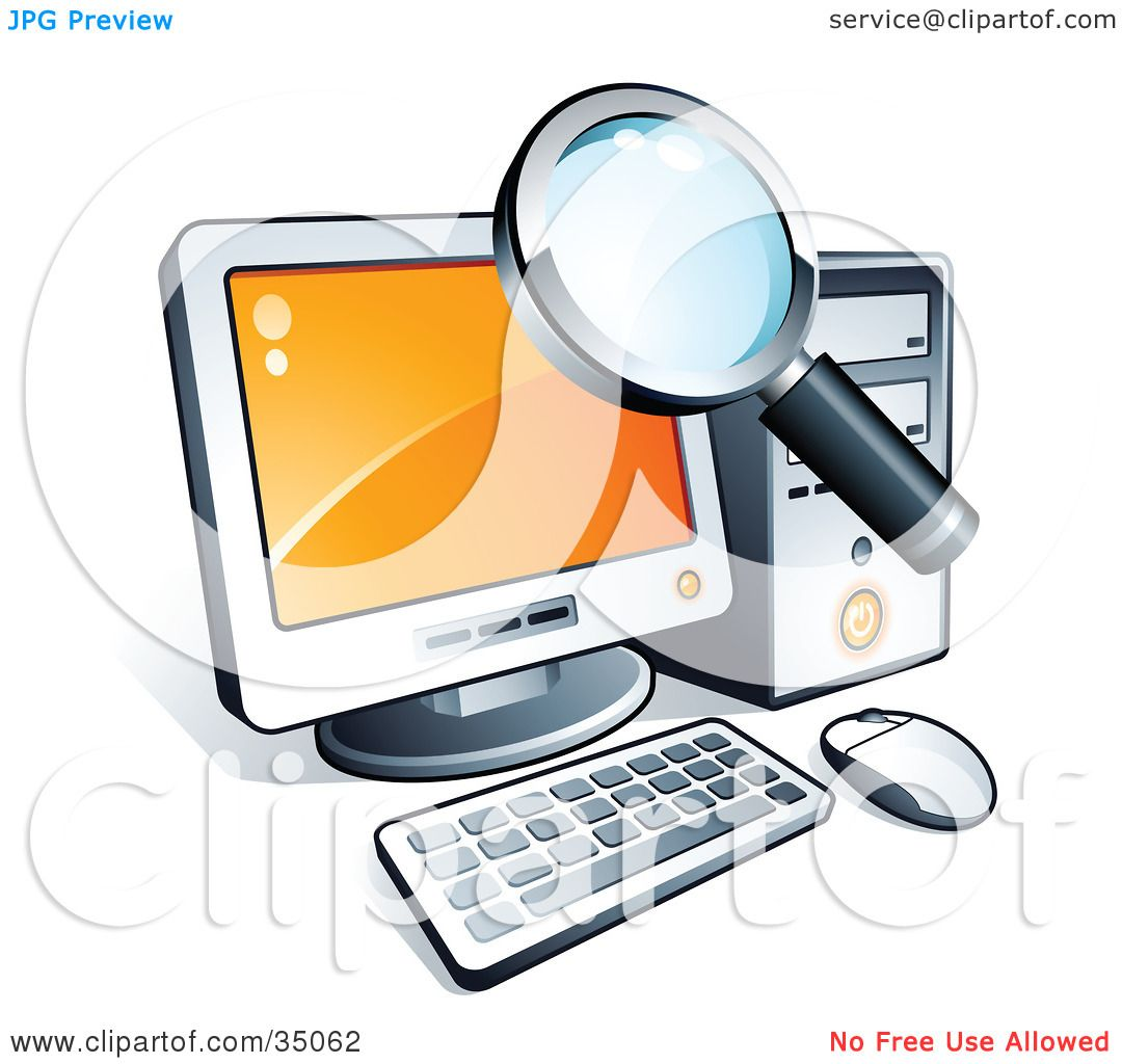 Desktop Computer Clip Art Free Clipart illustration of a