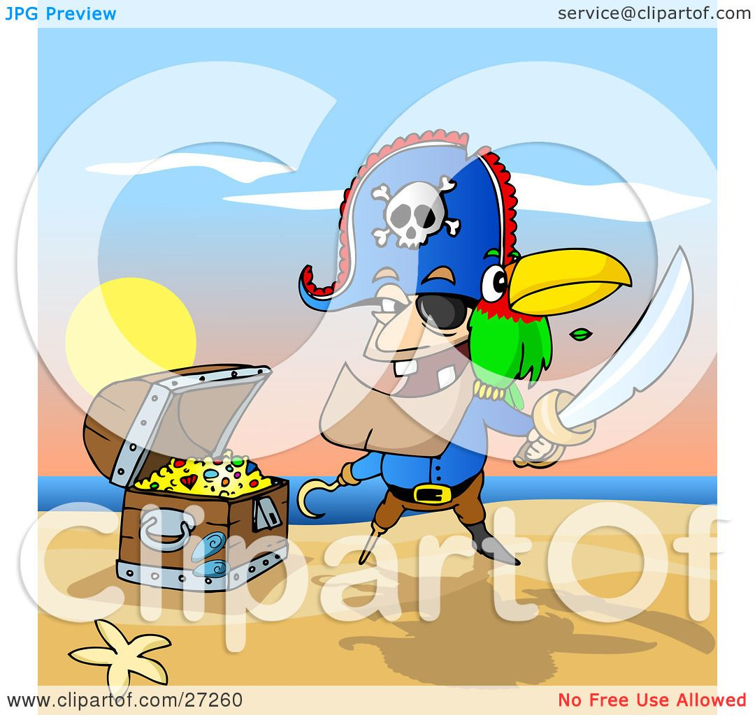 royalty free rf treasure chest clipart illustrations vector