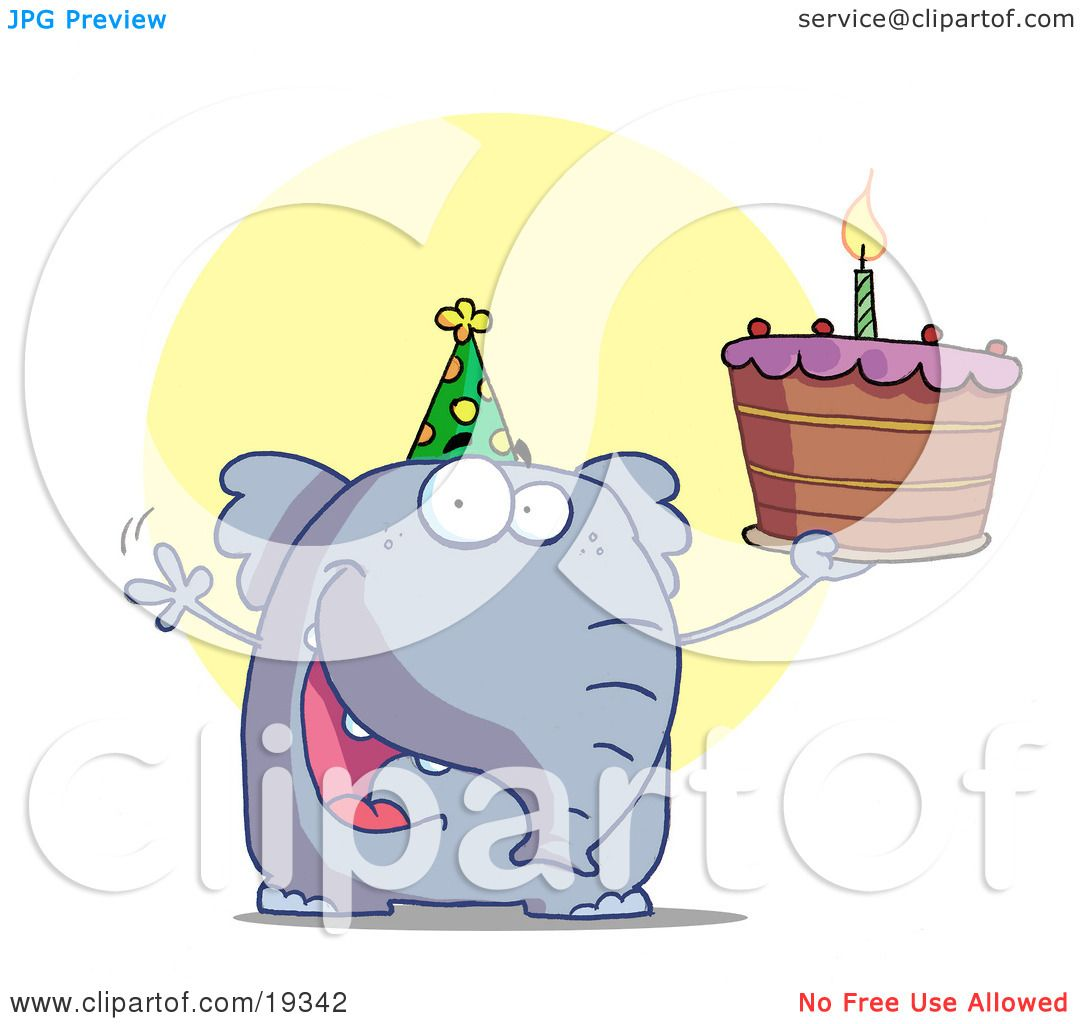 Clipart Illustration Of A Party Animal An Elephant