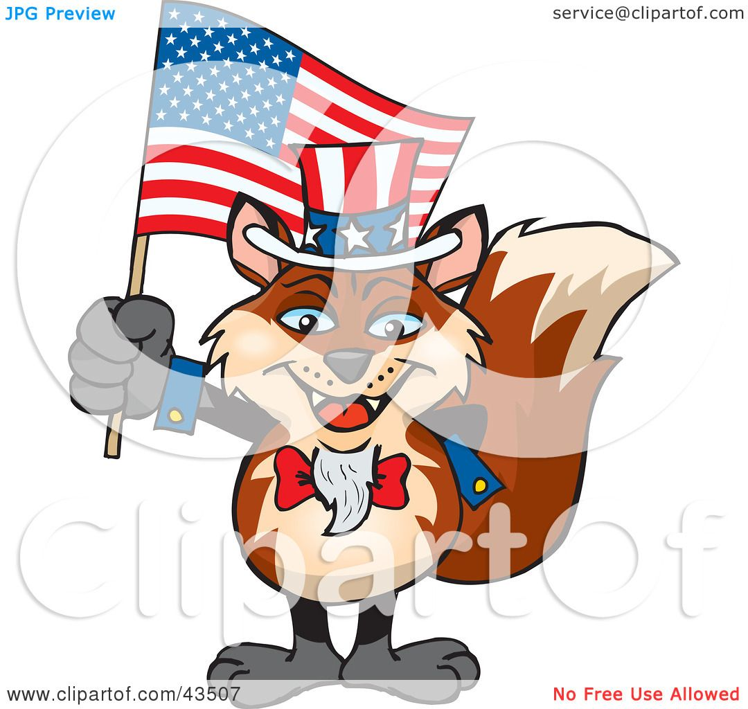 Clipart Flag Day Clipart illustration of a