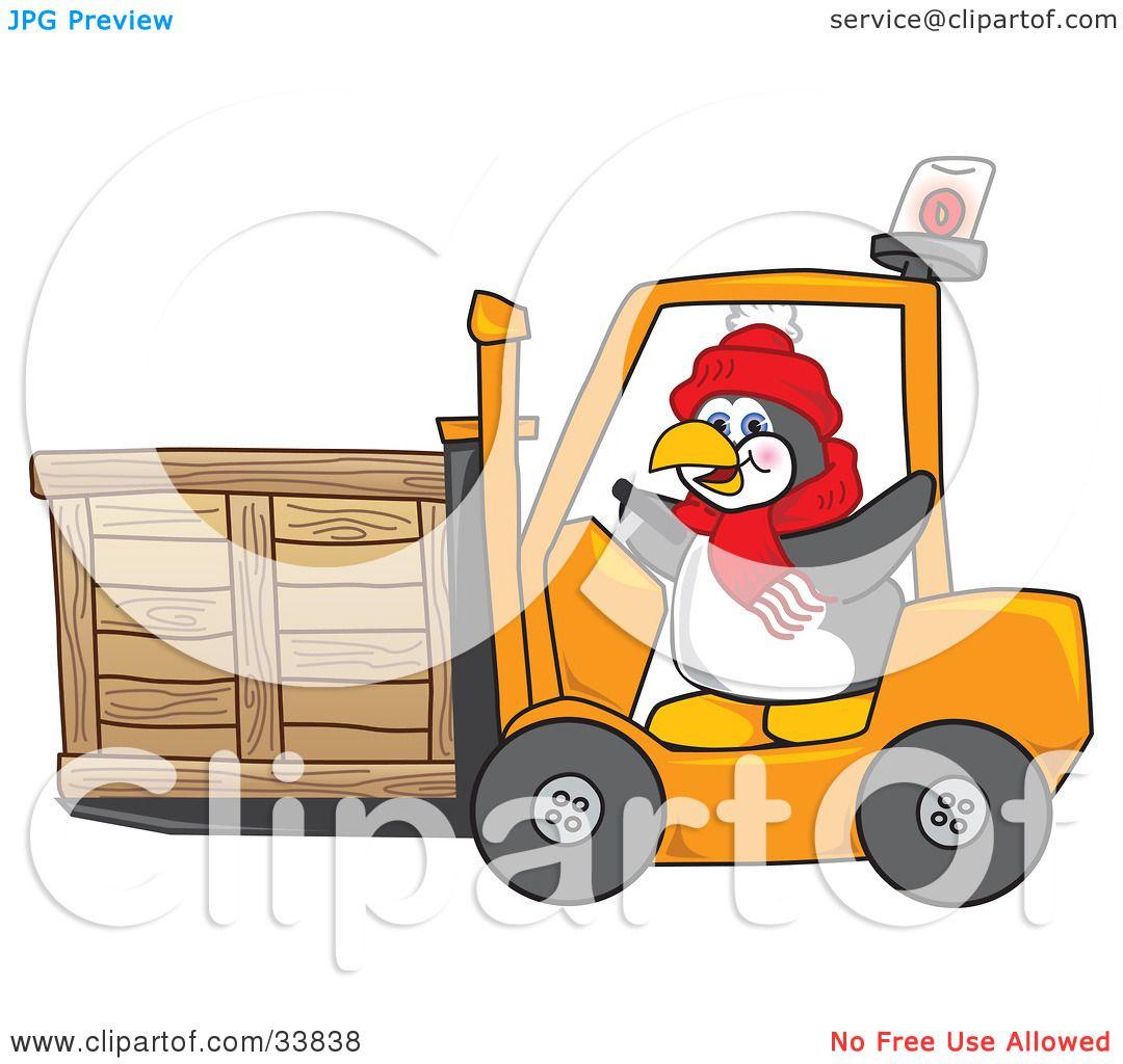 Clipart Illustration of a Penguin Mascot Cartoon Character ...