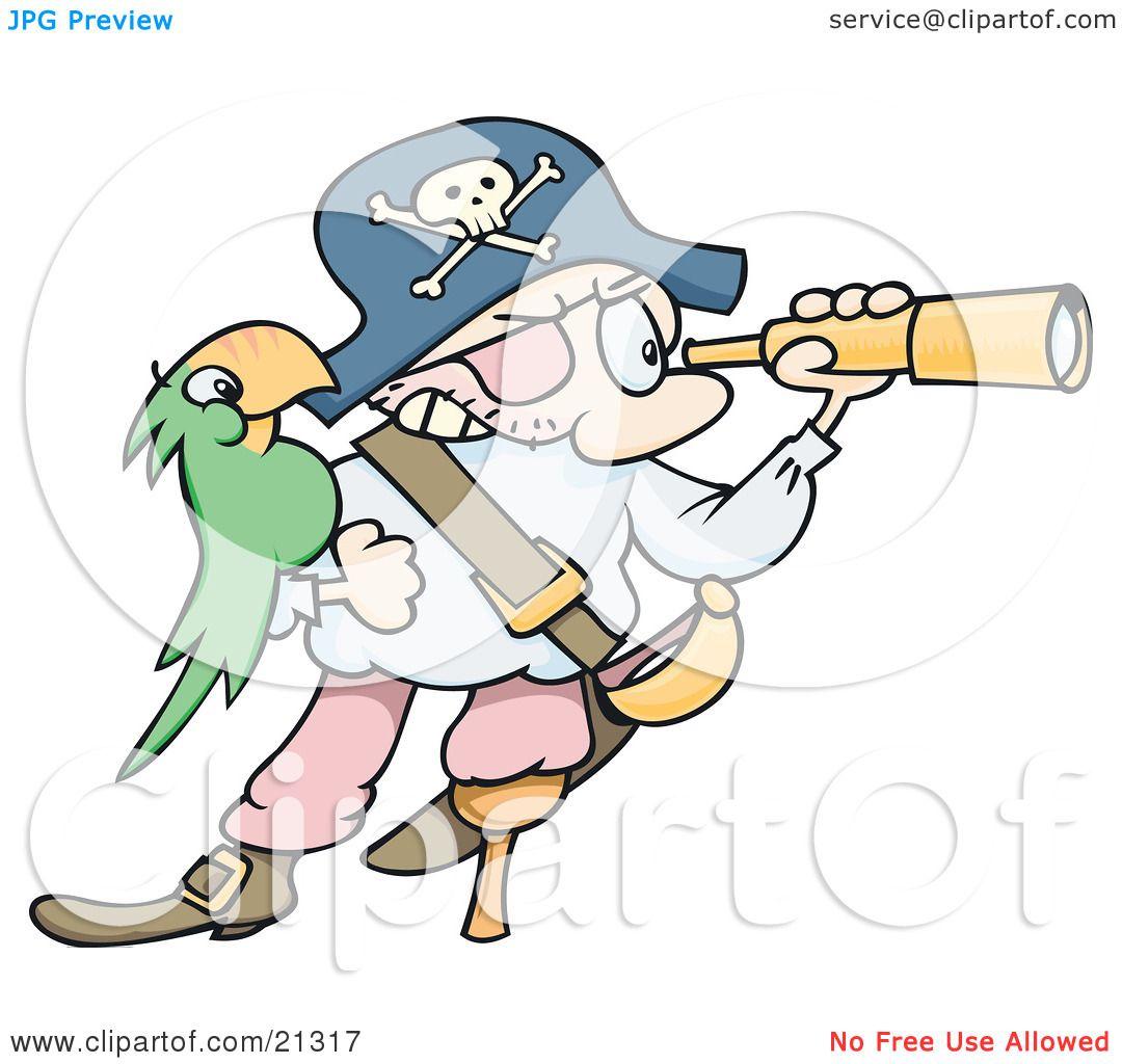 pirate telescope clipart - photo #45