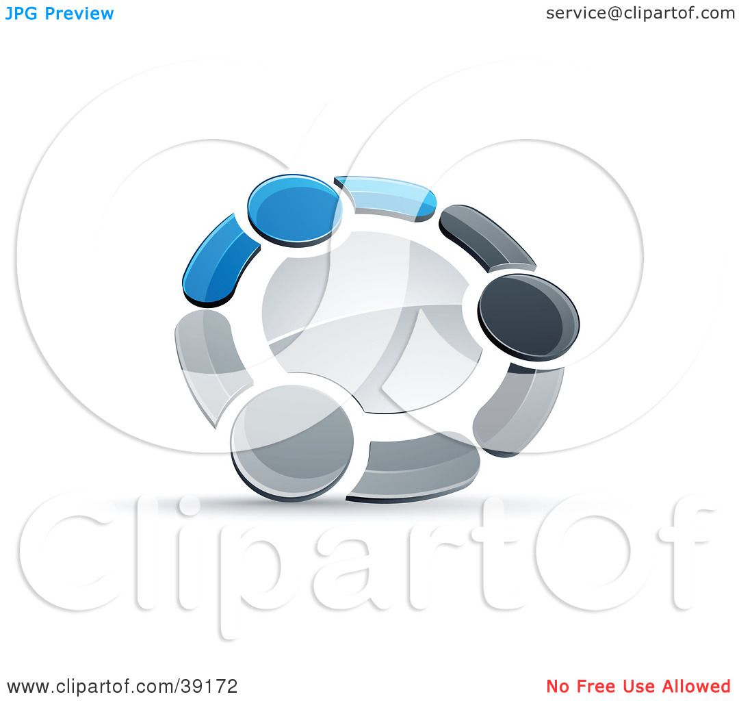 Clipart Illustration of a Pre-Made Logo Of A Circle Of ...