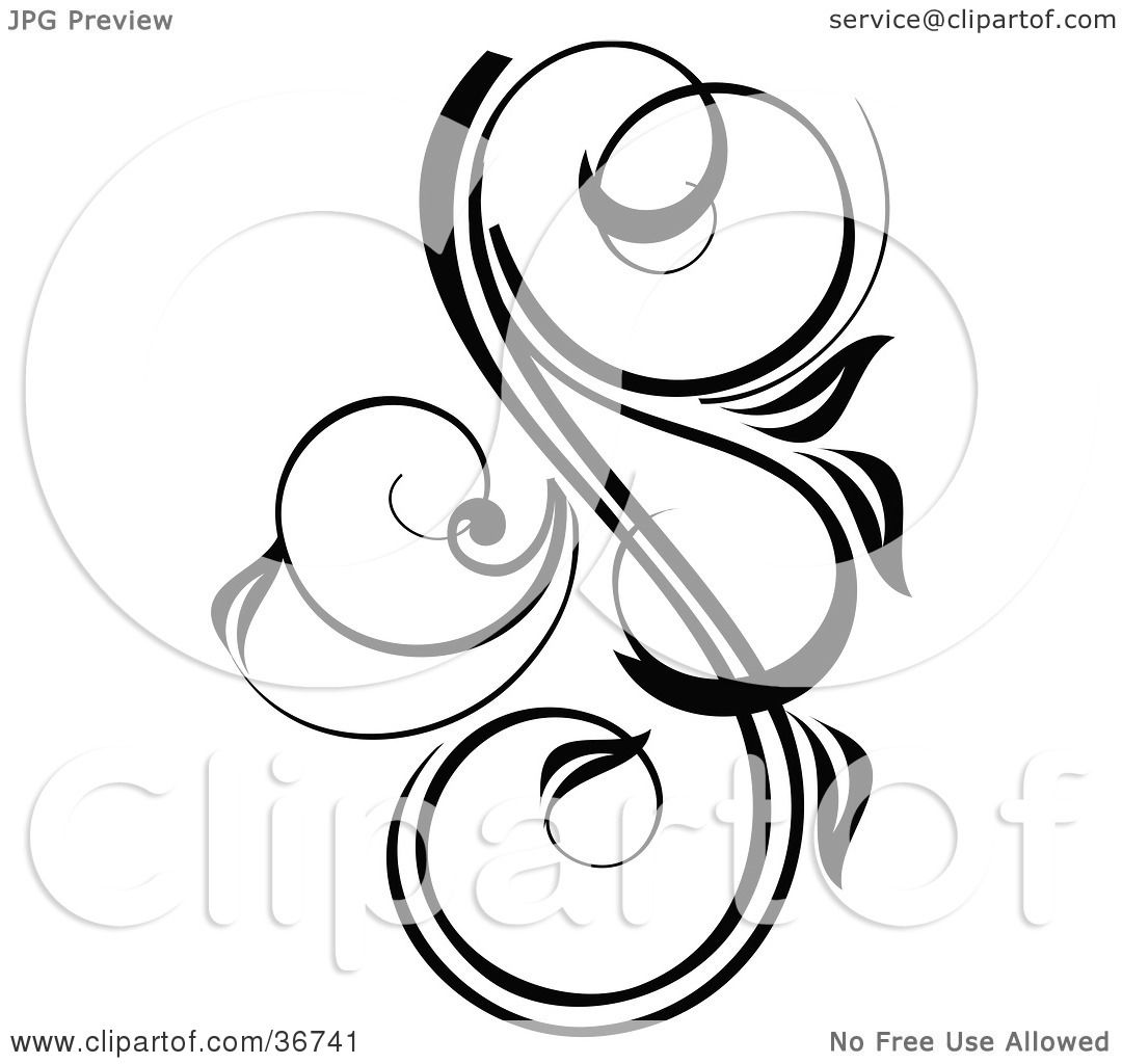 Clipart illustration of a pretty black and white design - Clipart illustration ...