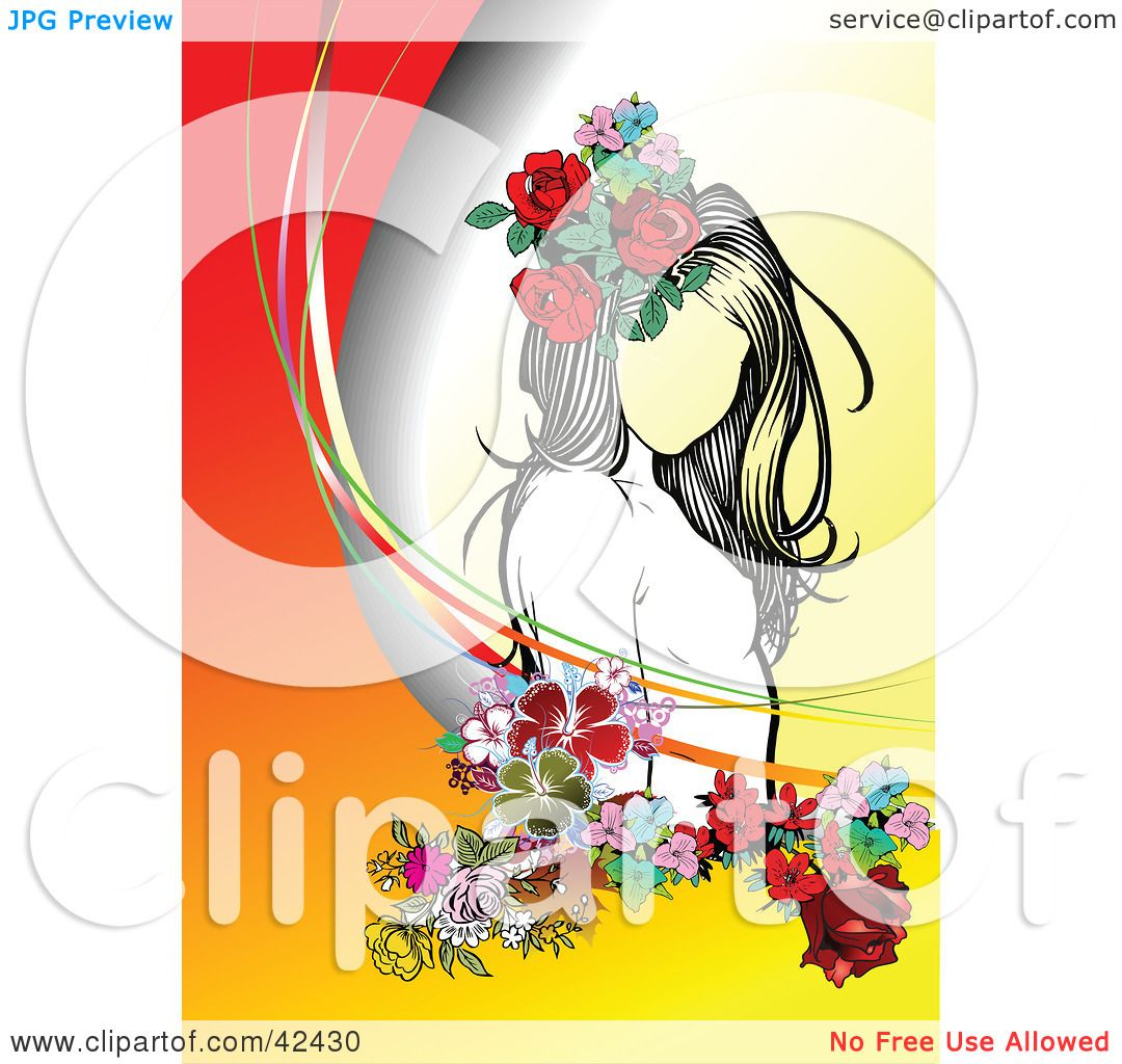 Clipart Illustration Of A Pretty Young Lady Wearing