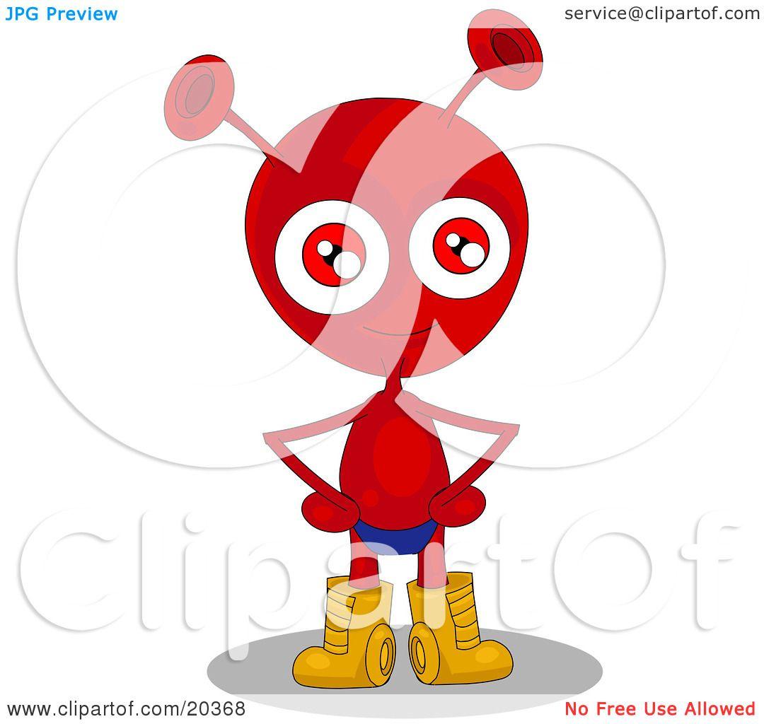 Red alien clipart