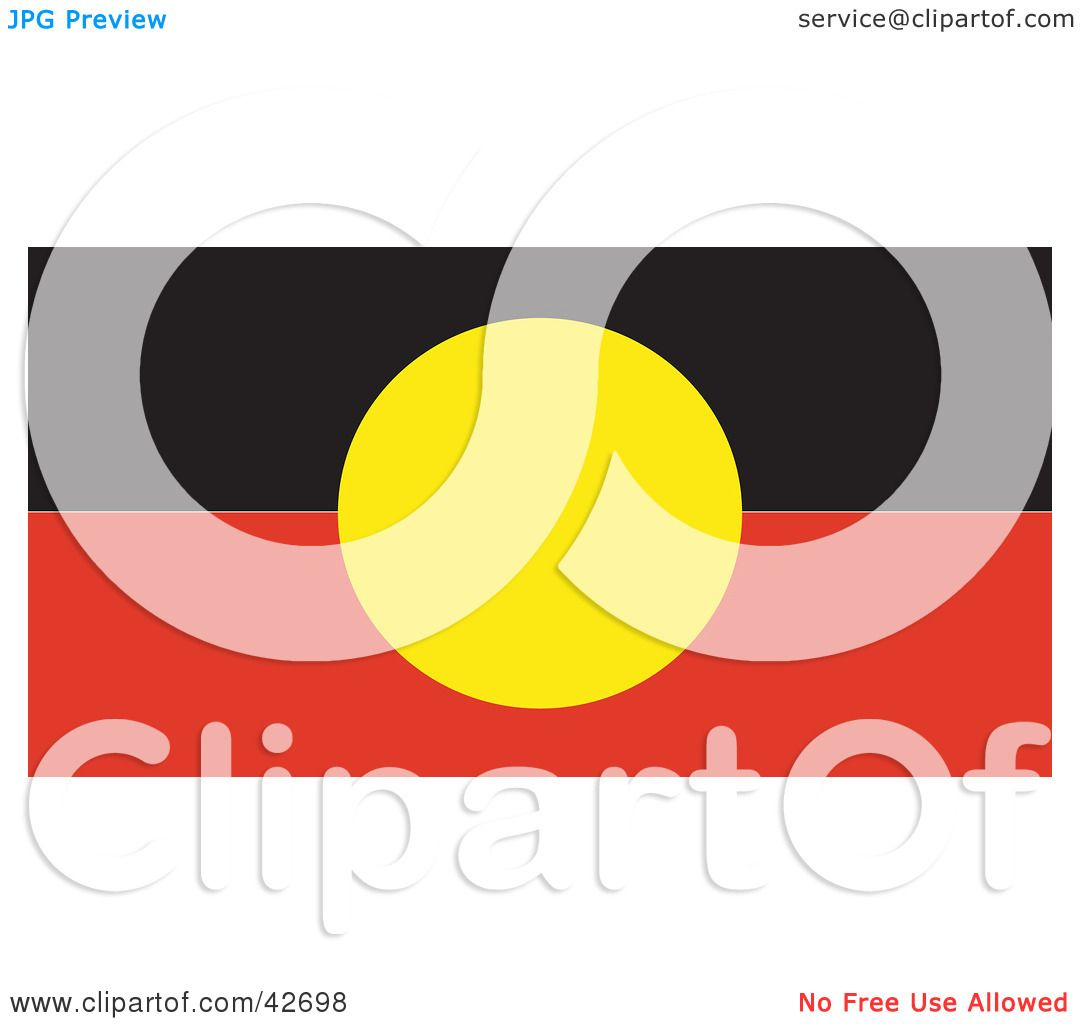 Clipart Illustration Of A Red Black And Yellow Australian
