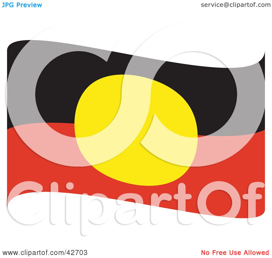 Clipart Illustration Of A Red Black And Yellow Waving Australian