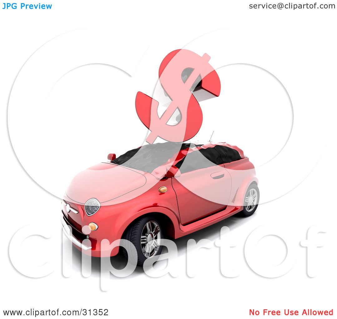 Red Car, Symbolizing Car Insurance Rates, Accidents Or The Crashing