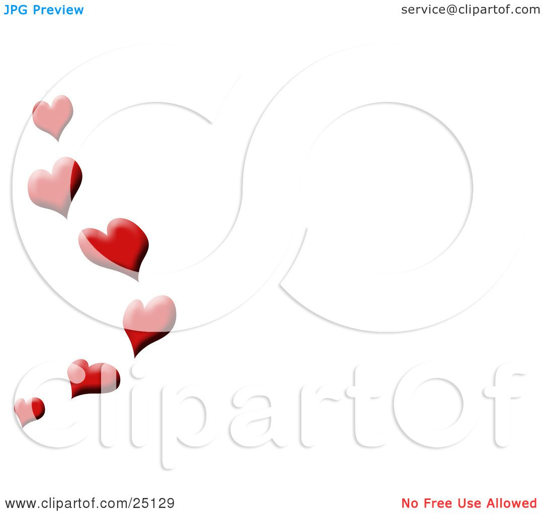 Clipart Illustration Of A Red Love Hearts Floating Up