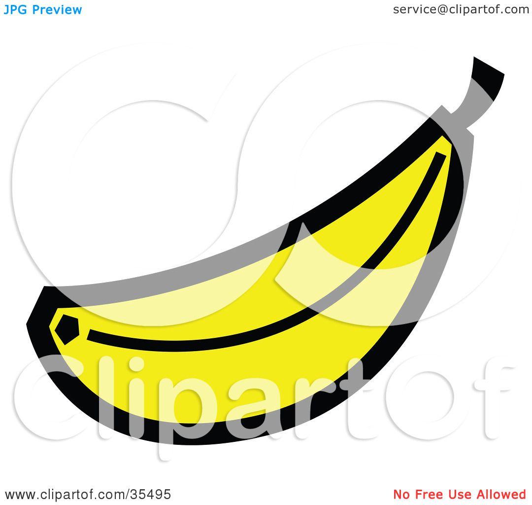 banana coloring page free here