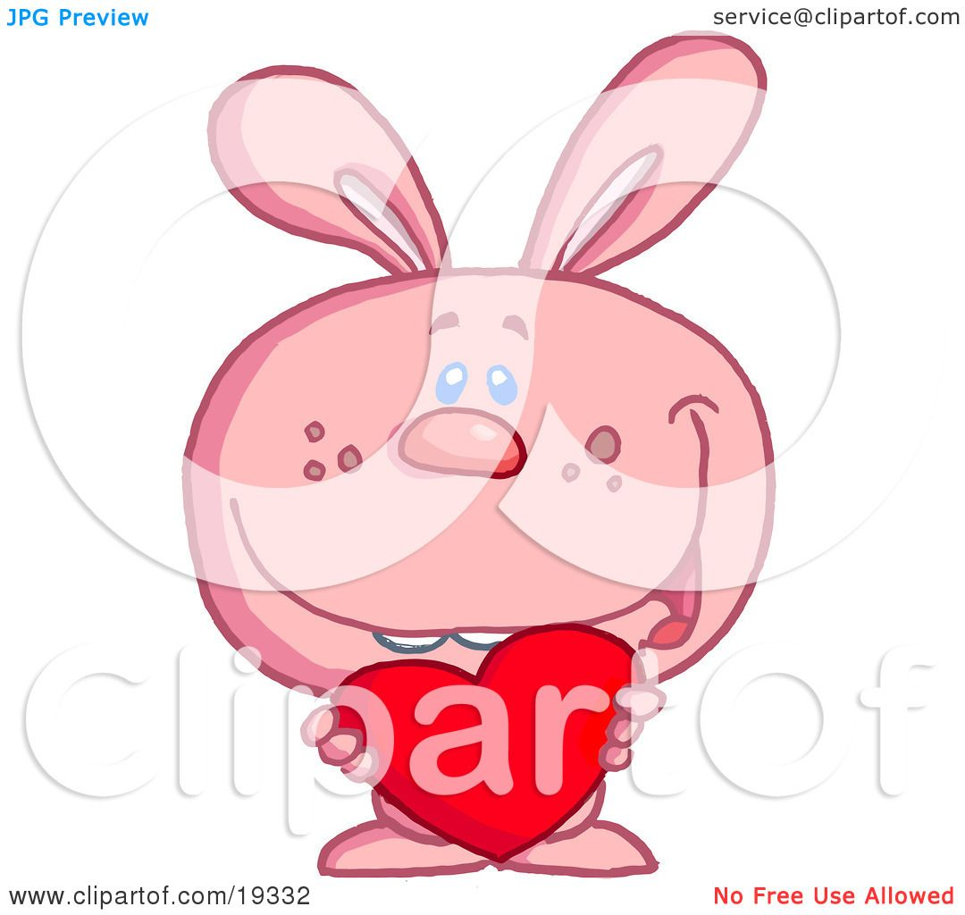 how to draw a bunny holding a heart