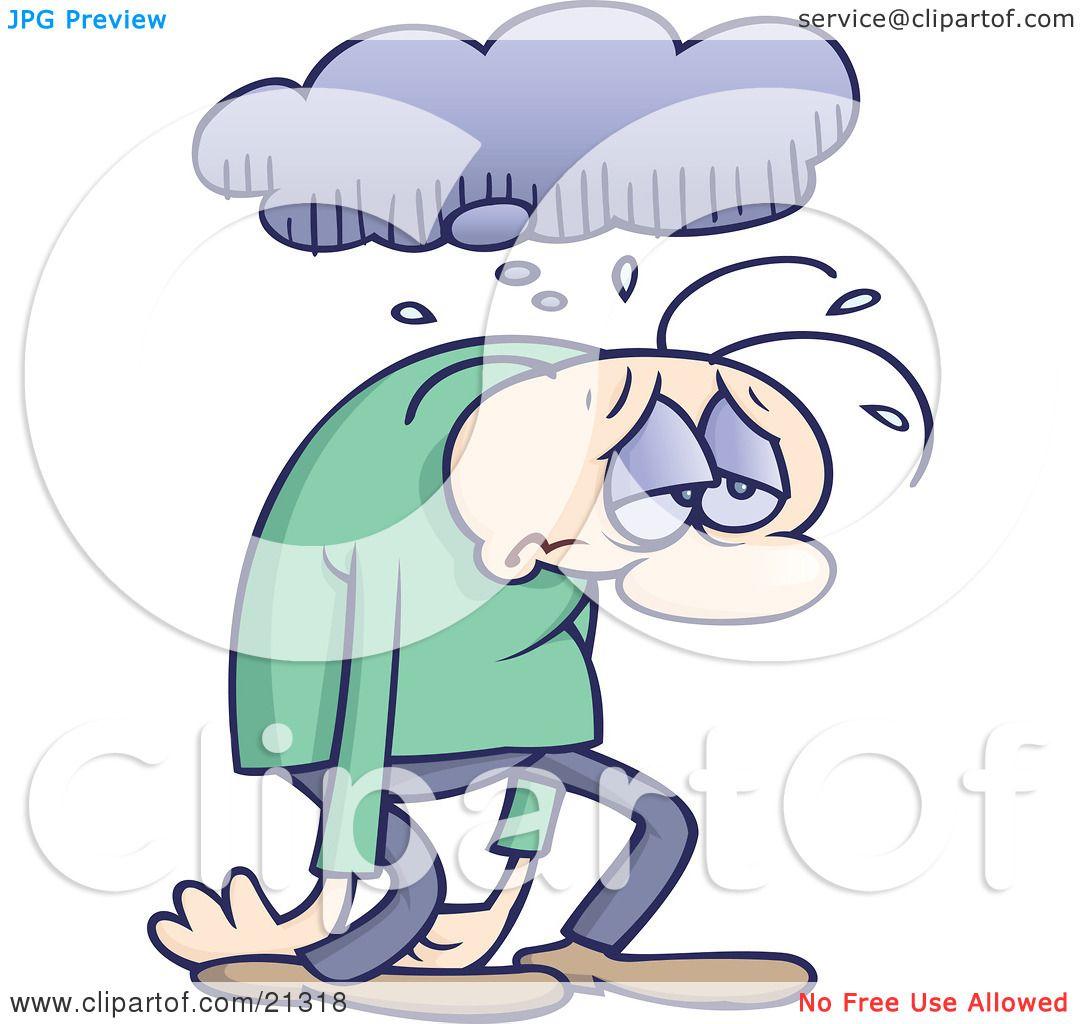 Depression Clipart Clipart Illustration of a Sad