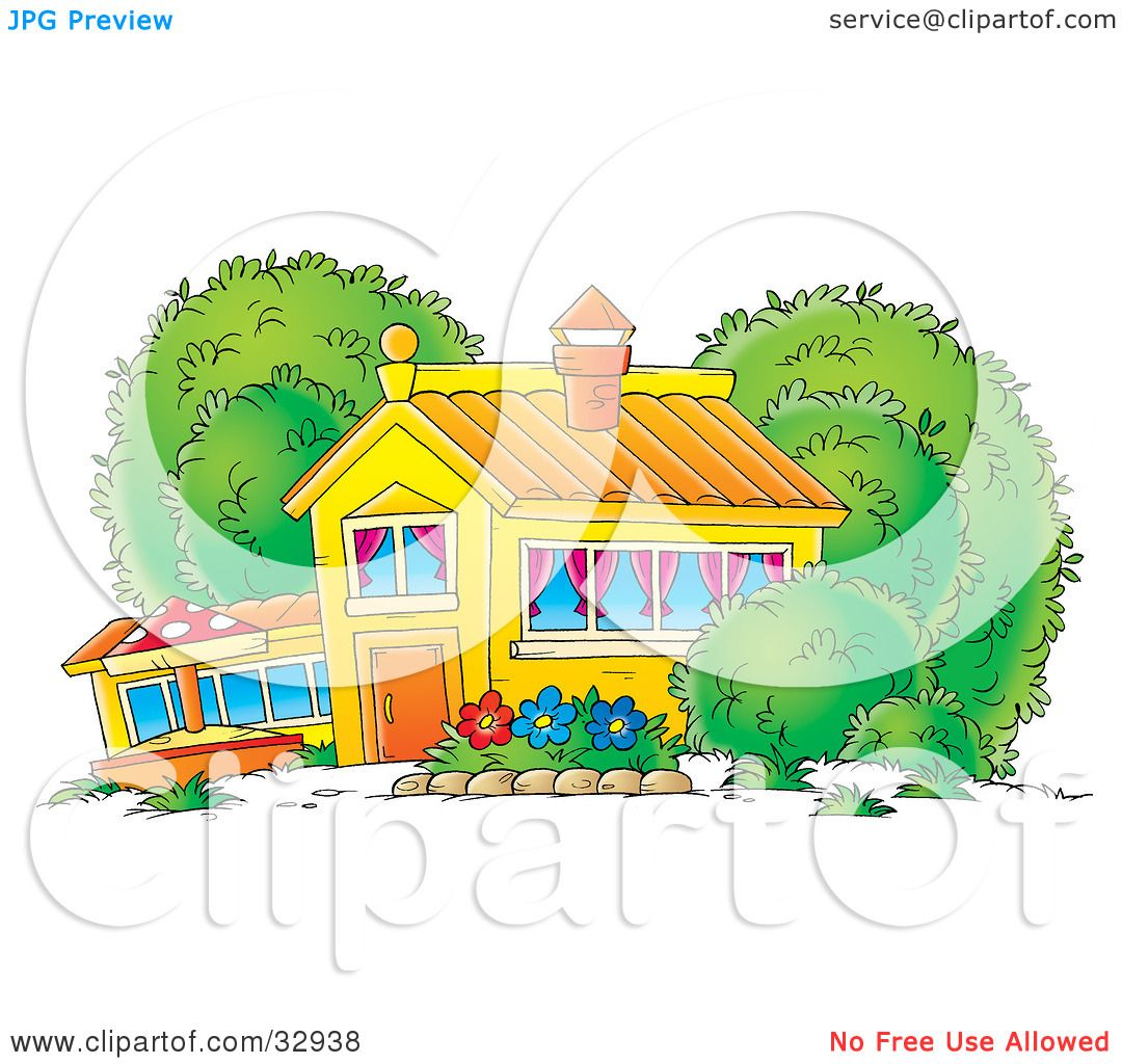 School Window Clipart clipart illustration of a school house, home or building with