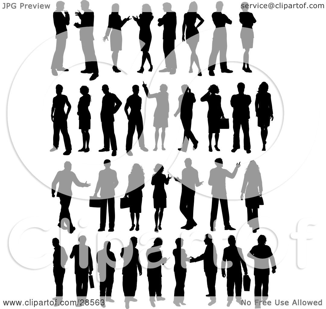 Clipart Illustration Of A Set Of Business Men And Women In