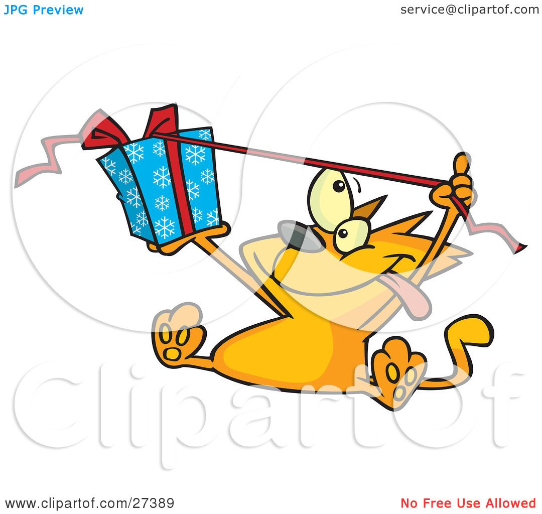 Clipart Illustration of a Spoiled Orange Cat Sitting And ...