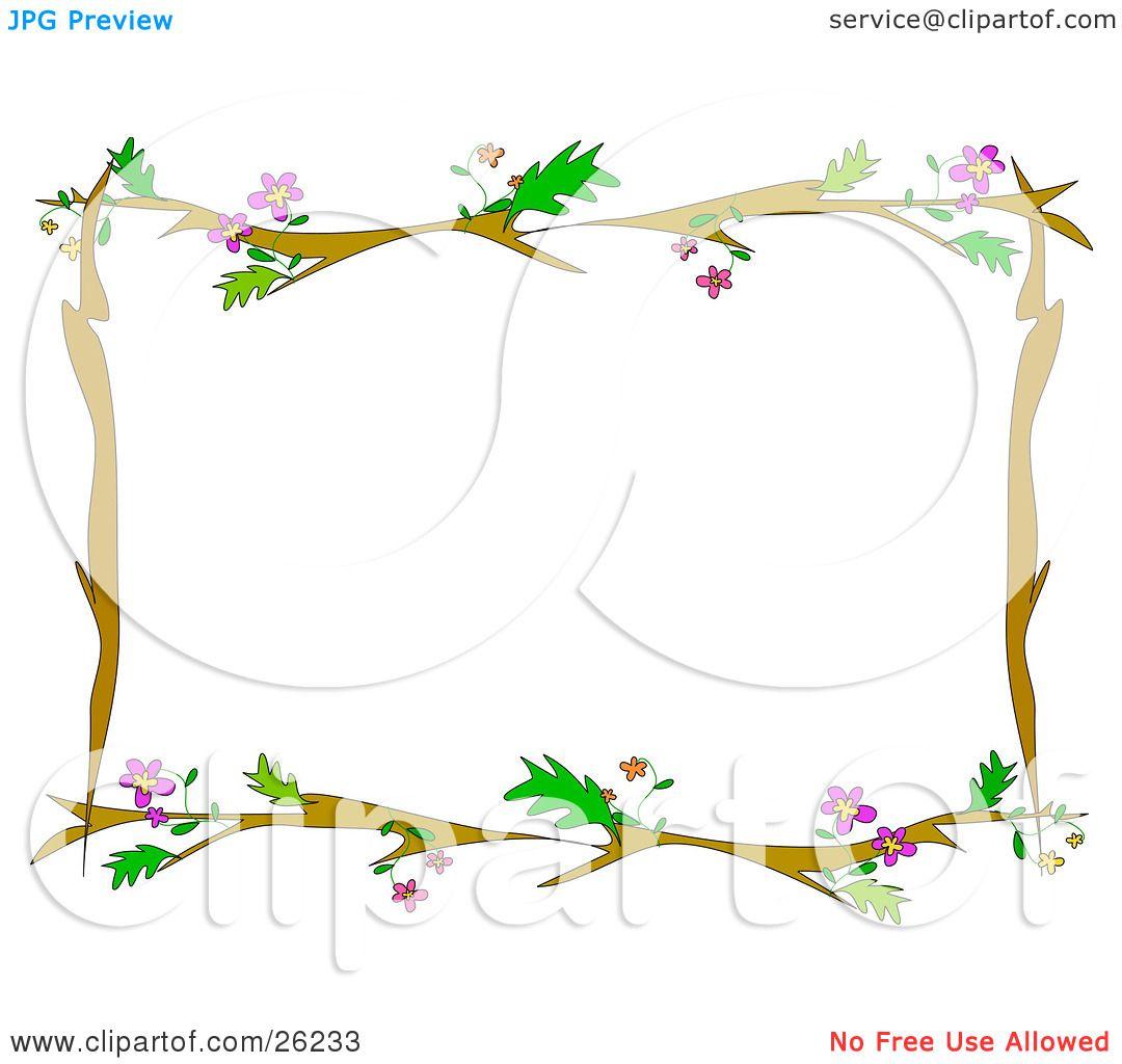 clipart tree branch borders - photo #41