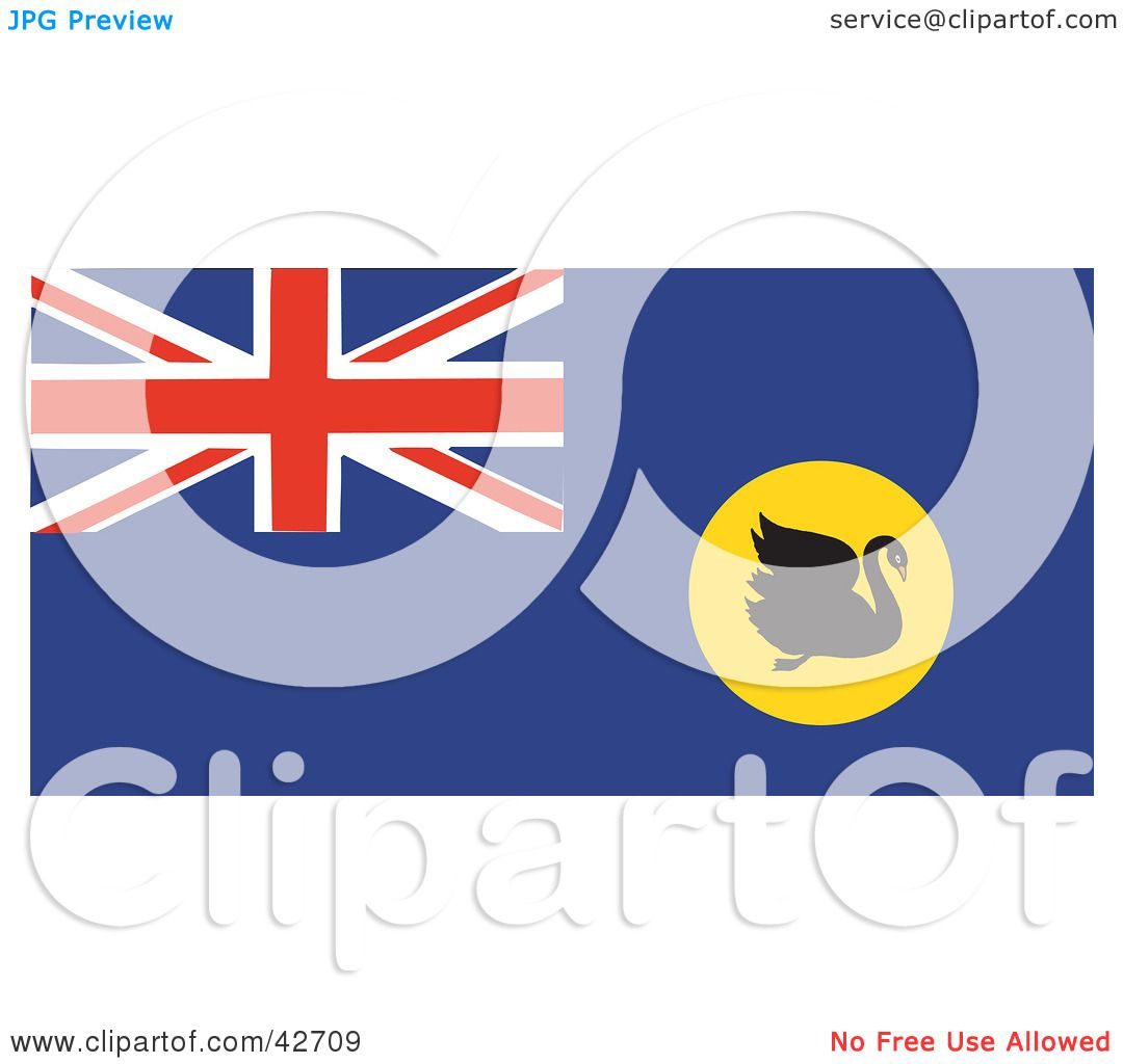 Clipart Illustration of a Swan On The Western Australia Flag by ...