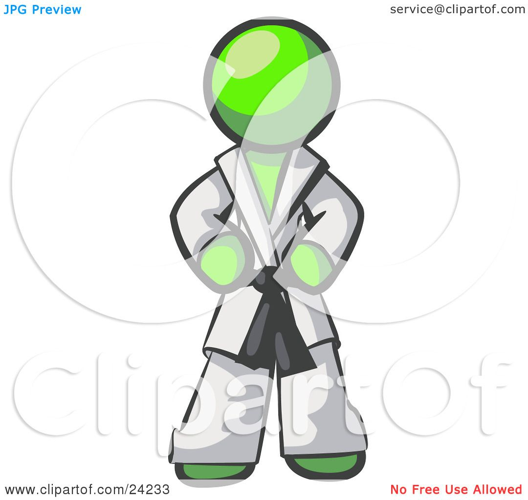 Green Man Suit in White Lime Green Man in a White