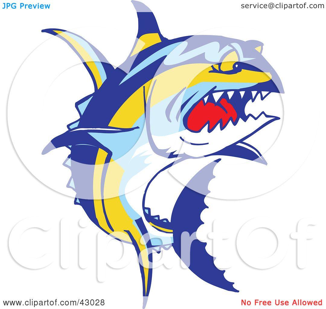 Clipart Illustration Of A Tough Yellowfin Tuna Fish Thunnus
