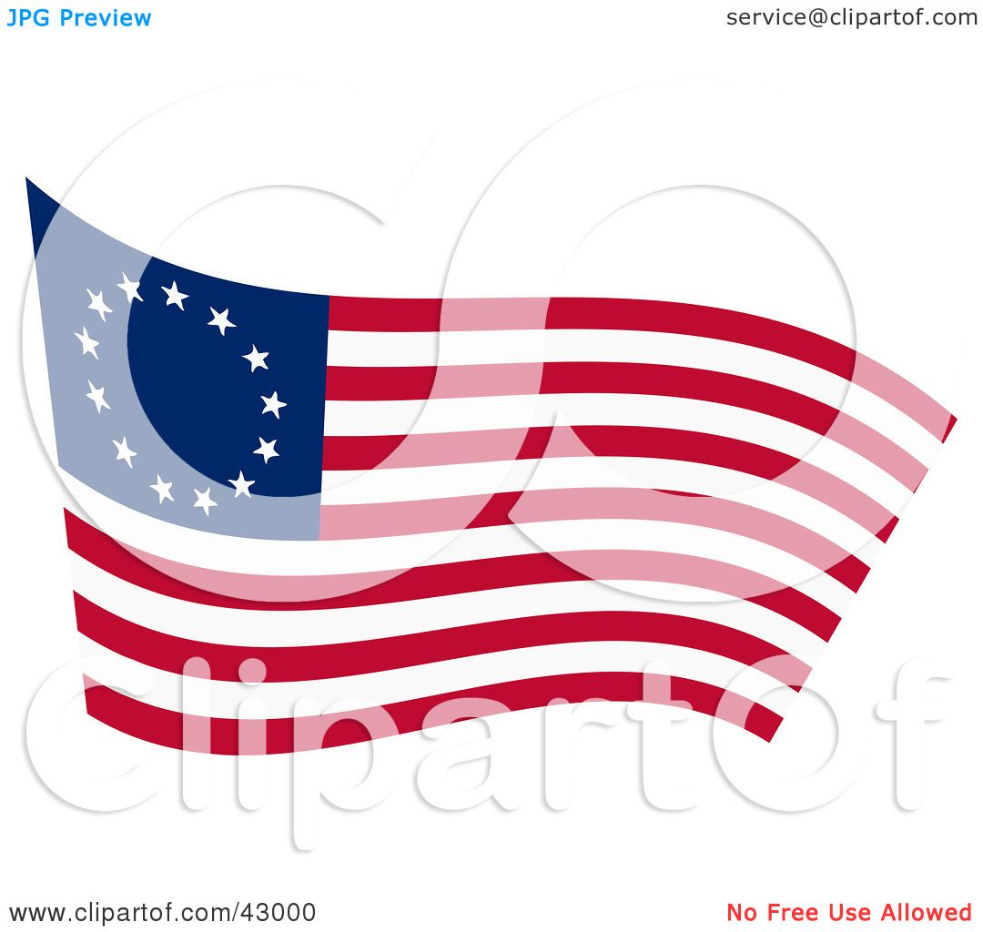 Clipart Illustration Of A Waving Betsy Ross Flag By Dennis