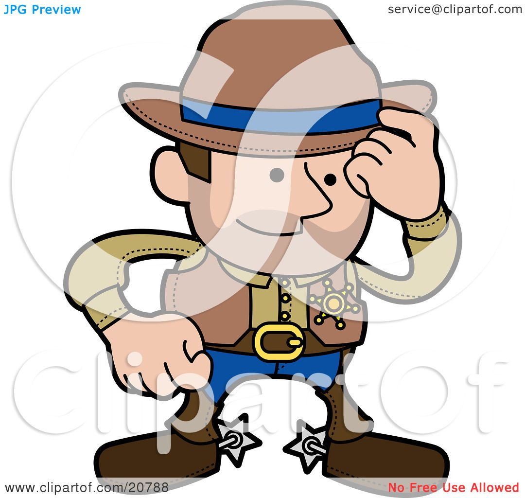 Clipart Illustration Of A Western Cowboy Sheriff Man In