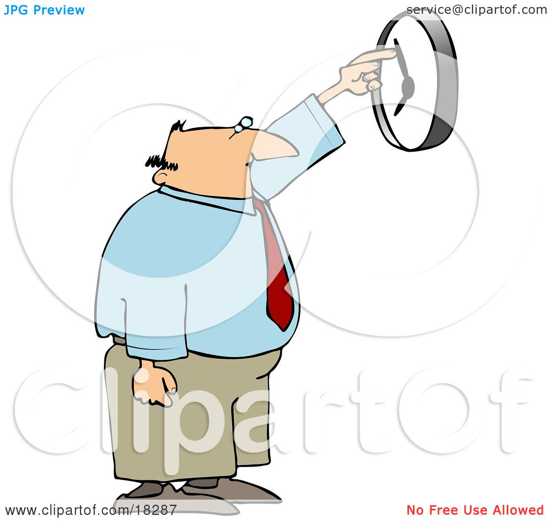 Clipart Illustration Of A White Businessman Anxious To