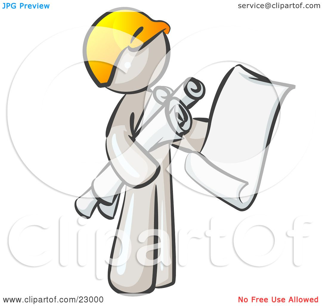 BOINC (Berkeley Open Infrastructure for Network Computing) Clipart-Illustration-Of-A-White-Man-Contractor-Or-Architect-Holding-Rolled-Blueprints-And-Designs-And-Wearing-A-Hardhat-102423000