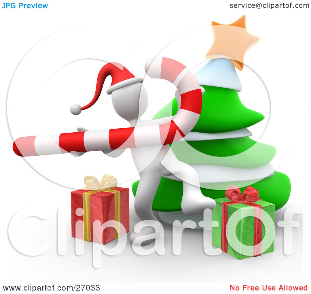 Dancing Christmas Tree Clip Art Clipart illustration of a white person ...