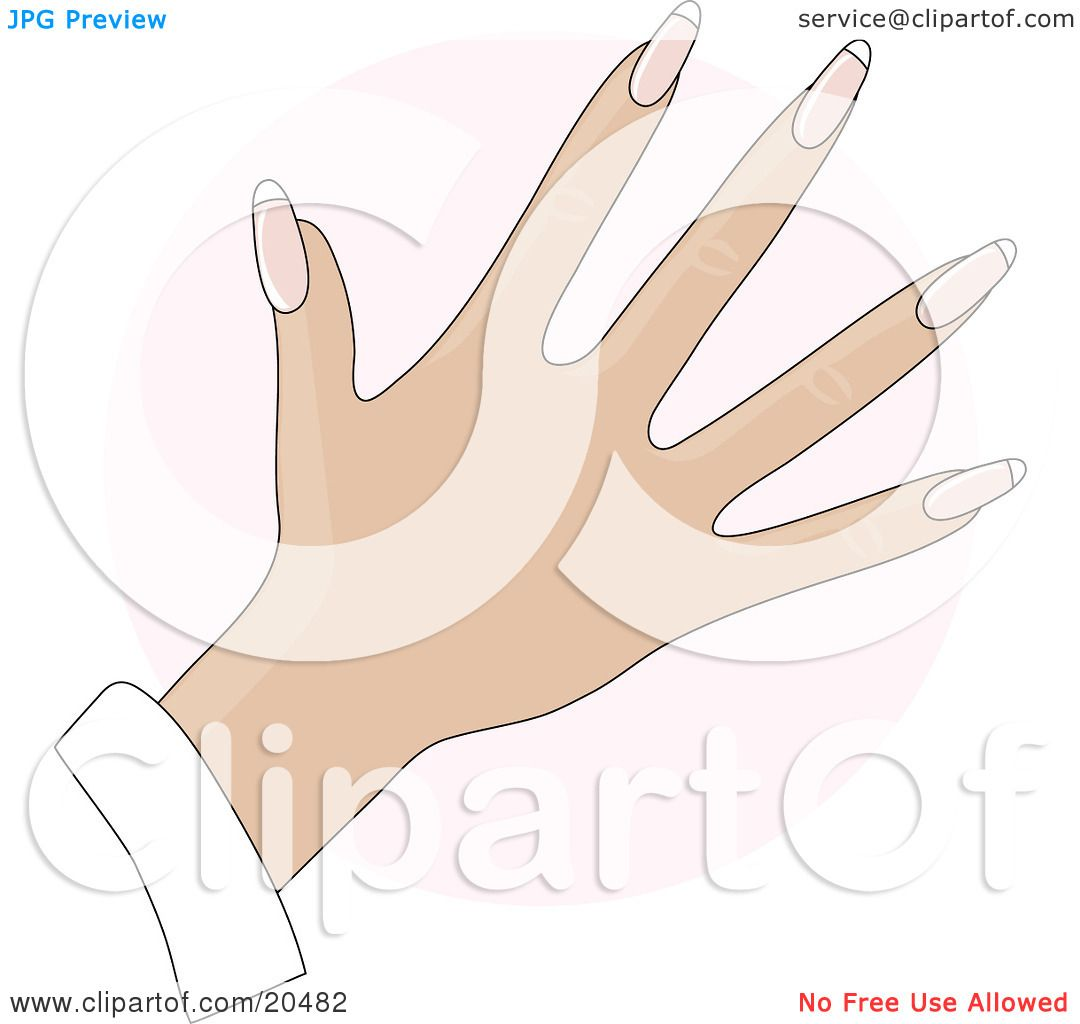 Clipart Illustration of a Woman's Hand With Rounded Gel ...
